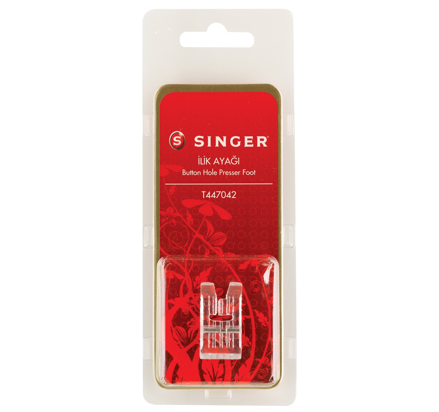 SINGER BUTTON HOLE PRESSER FOOT - 88100