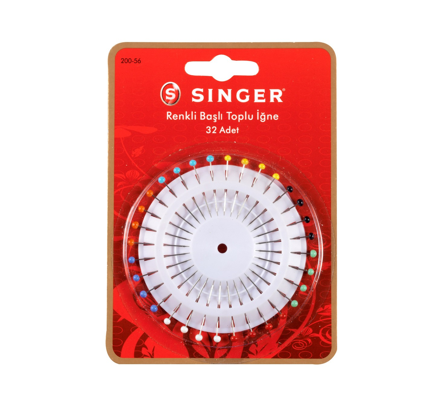 SINGER 200-56 (MULTI COLOR) HEAD STRAIGHT PINS