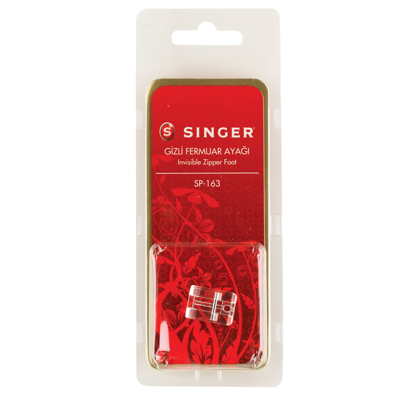SINGER INVISIBLE ZIPPER FOOT - SP-163-BLS