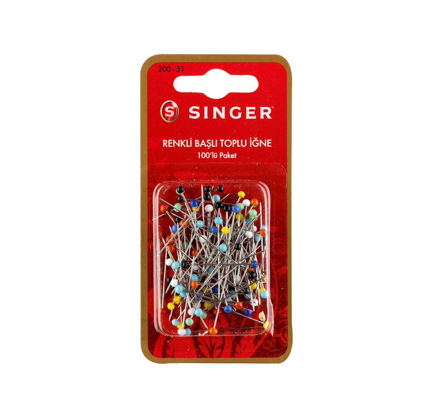 SINGER 200-51 (MULTI COLOR) HEAD STRAIGHT PINS
